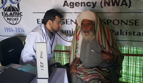Displaced families receive healthcare