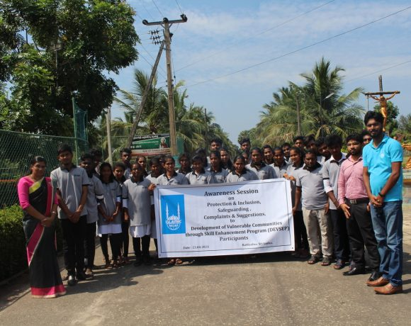 Awareness sessions to the participants – DEVSEP Project